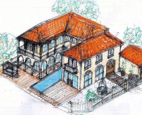 סקיצה מדהימה למבנה מגורים