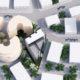 מבט מלמעלה של עיצוב בניין מגורים בגבעתיים