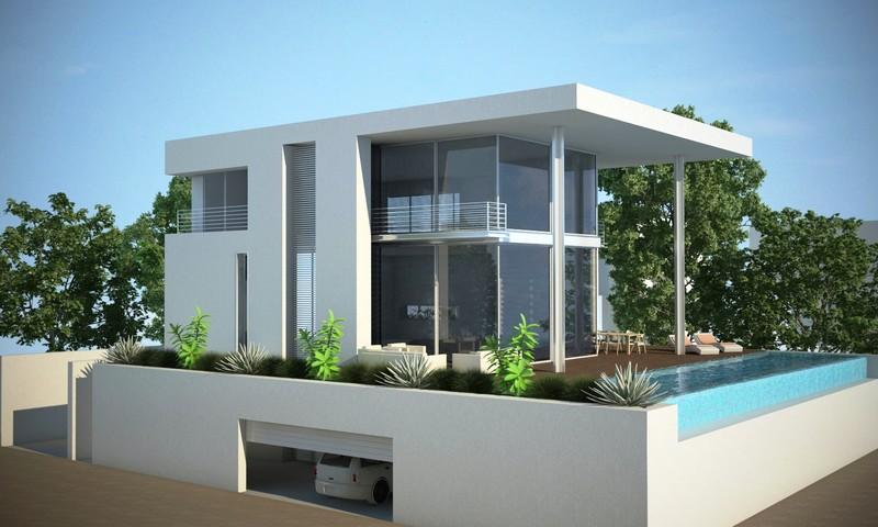 עיצוב מהפנט לבית בסגנון מודרני על הים