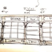 תרשים לאדריכלות מבנה מסחרי במרכז