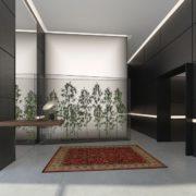 עיצוב חדר מדרגות בניין מגורים בעיר רחובות