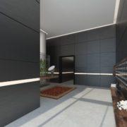 עיצוב לובי בניין מגורים יוקרתי