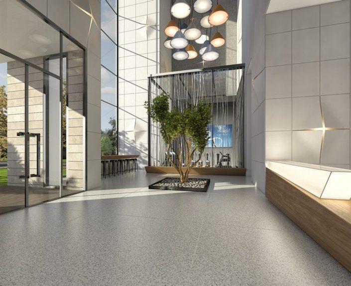 עיצוב חדר מדרגות של בניין יוקרתי