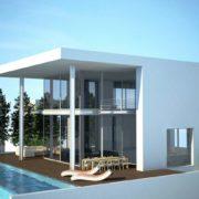 עיצוב בית מודרני על הים