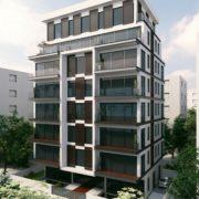 עיצוב בנייין מגורים ברחוב רמז בתל אביב